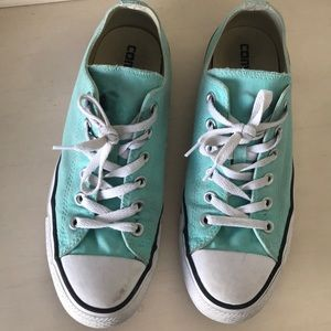 Converse Low Top Turquoise Shoes